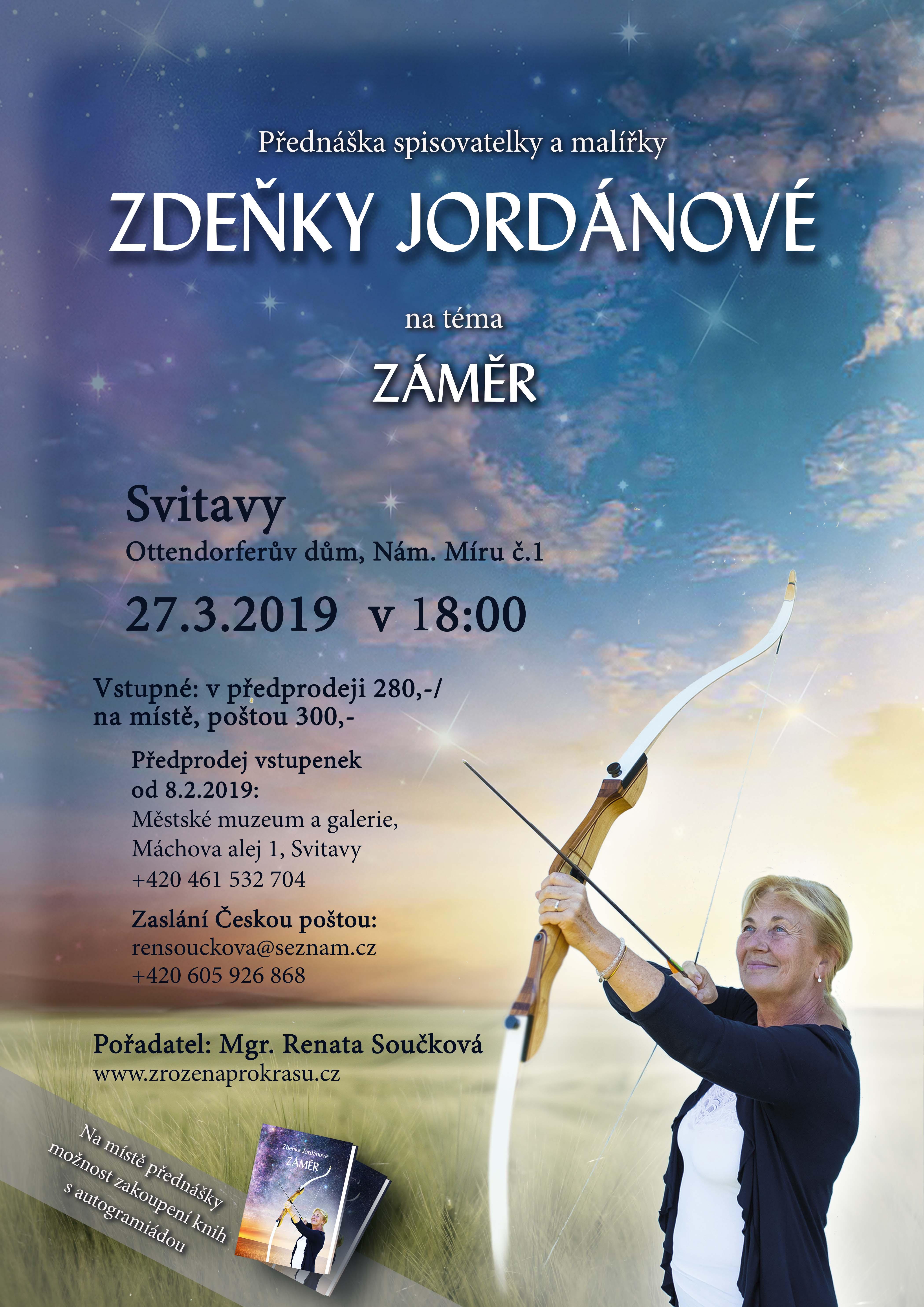 !POZOR, ZMĚNA TERMÍNU!Přednáška Zdeňky Jordánové, 29.3.201, Svitavy!